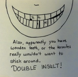 Wooden Teeth: A universally bad idea