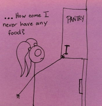 "Don't you write ""pantry"" on your pantry?"