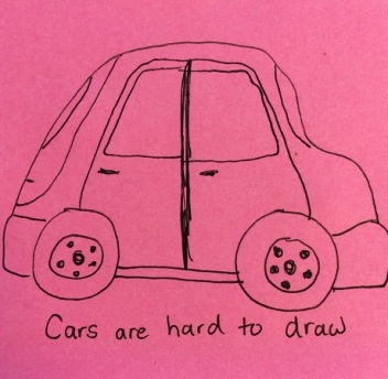 I love my car. It looks like a bubble. It is an ugly doodle, though.