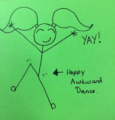 And, of course, you are then entitled to a justified happy dance, even if it is awkward.**